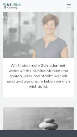 Vorschau der mobilen Webseite ichblick.de, IchBlick Coaching