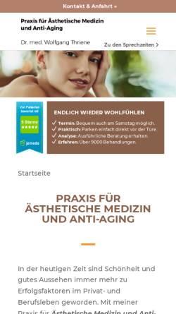 Vorschau der mobilen Webseite aesthetic-antiaging.de, Praxis für ästhetische Medizin. Dr. med. W. Thriene