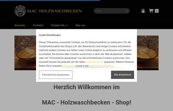 Vorschau von www.holzwaschbecken.shop, MAC-Holzwaschbecken