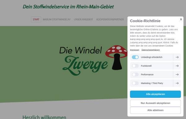 Vorschau von www.diewindelzwerge.de, Die Windelzwerge