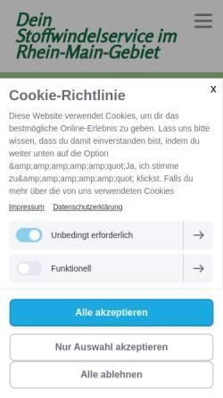 Vorschau der mobilen Webseite www.diewindelzwerge.de, Die Windelzwerge