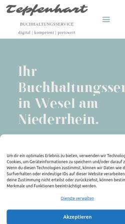 Vorschau der mobilen Webseite tepfenhart-buchhaltung.de, Tepfenhart Buchhaltungsservice
