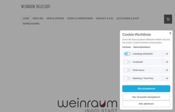 Vorschau von www.weinraum-ingolstadt.de, Weinraum Ingolstadt