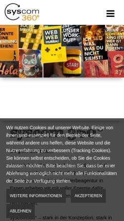 Vorschau der mobilen Webseite syscom360.crew4.de, syscom360°