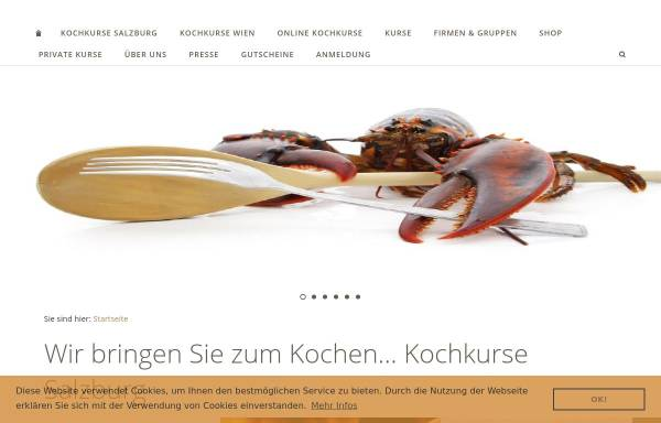 Vorschau von www.kochkurse.at, Kochkurse.at