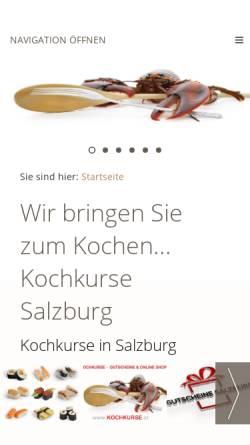 Vorschau der mobilen Webseite www.kochkurse.at, Kochkurse.at
