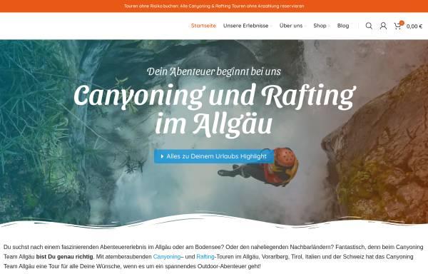 Vorschau von canyoning-team.de, Canyoning Team Allgäu