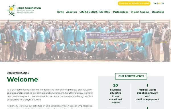 Vorschau von www.urbis-foundation.de, URBIS Foundation - Stiftung für Umwelt und internationale Solidarität