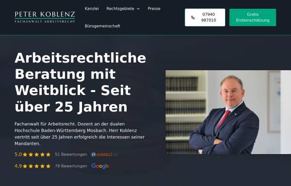 Vorschau von www.kanzlei-peter-koblenz.de, Rechtsanwalt Peter Koblenz