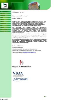 Vorschau der mobilen Webseite www.kanzlei-peter-koblenz.de, Rechtsanwalt Peter Koblenz