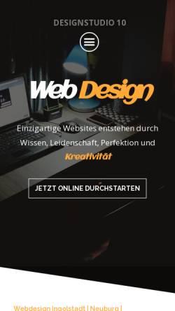 Vorschau der mobilen Webseite designstudio10.de, Designstudio 10