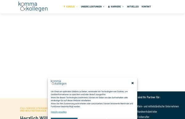 Vorschau von www.komma-steuerberatung.de, K&K Steuerberatungsgesellschaft mbH