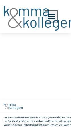 Vorschau der mobilen Webseite www.komma-steuerberatung.de, K&K Steuerberatungsgesellschaft mbH