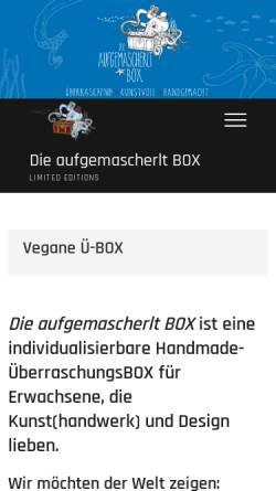 Vorschau der mobilen Webseite box.aufgemascherlt.com, Die aufgemascherlt BOX