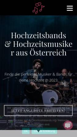 Vorschau der mobilen Webseite hochzeitsbands.info, hochzeitsbands.info