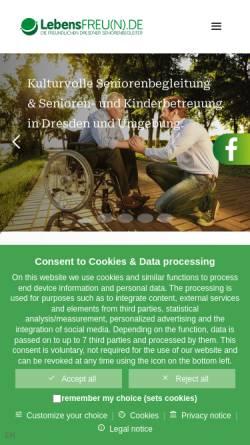 Vorschau der mobilen Webseite www.lebensfreun.de, LebensFREUNDE