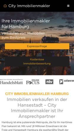 Vorschau der mobilen Webseite city-immobilienmakler-hamburg.de, City Immobilienmakler GmbH