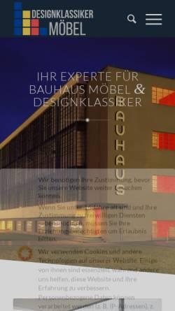 Vorschau der mobilen Webseite designklassikermoebel.de, Designklassikermöbel