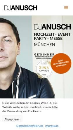 Vorschau der mobilen Webseite www.djanusch.de, DJ Anusch