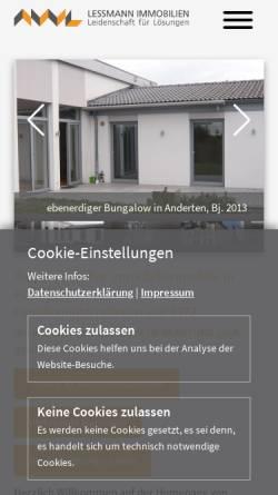 Vorschau der mobilen Webseite www.lessmann-immobilien.de, Lessmann Immobilien Hannover