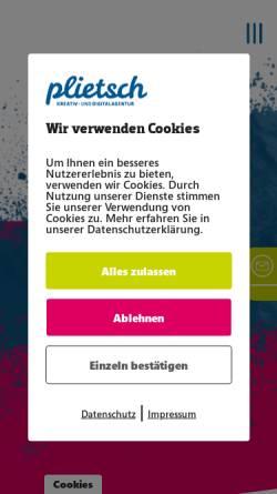 Vorschau der mobilen Webseite www.agentur-plietsch.de, Plietsch