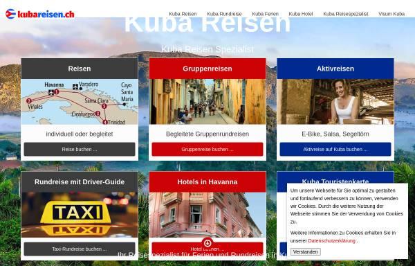 Vorschau von www.kubareisen.ch, Reiselade Huttwil - Kuba Reisen