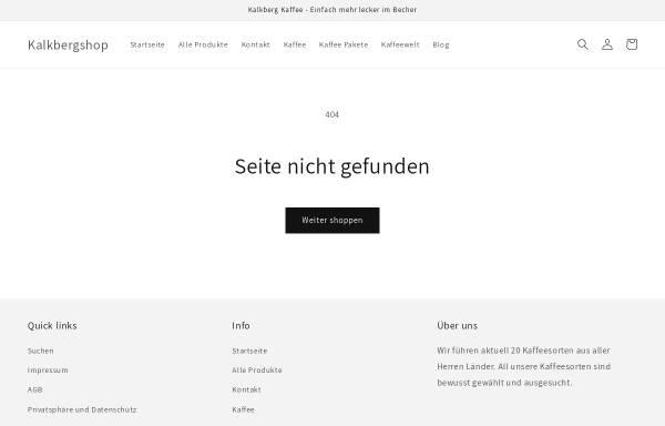 Vorschau von www.kalkbergshop.de, Kalkberg Betriebe UG