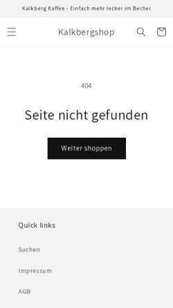 Vorschau der mobilen Webseite www.kalkbergshop.de, Kalkberg Betriebe UG