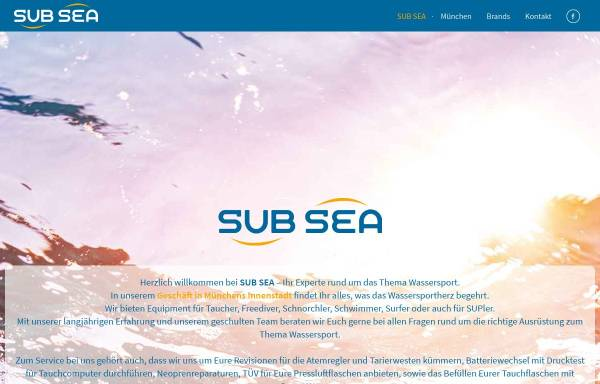 Vorschau von www.sub-sea.de, Sub Sea Wassersporthandel & Reisen GmbH