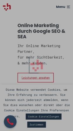 Vorschau der mobilen Webseite herzmann.digital, herzmann.digital