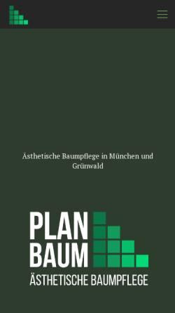 Vorschau der mobilen Webseite www.planbaum-baumpflege.de, Planbaum