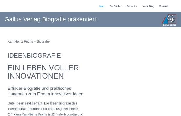 Vorschau von ideenbiografie.de, Ideenbiografie - Ein Leben voller Innovationen von Karl-Heinz Fuchs