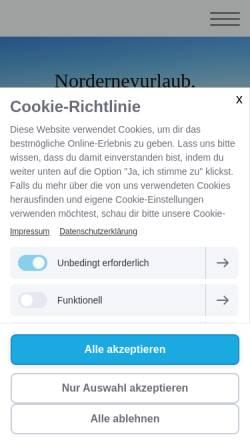 Vorschau der mobilen Webseite www.norderneyurlaub-haus-ecker.de, Haus Ecker Norderney