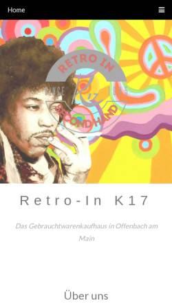 Vorschau der mobilen Webseite www.retro-in.de, Retro-In K17