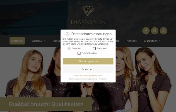 Vorschau von diamonds-germany.com, Diamonds Model Agency UG & Co. KG