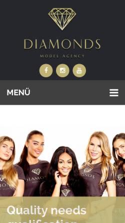 Vorschau der mobilen Webseite diamonds-germany.com, Diamonds Model Agency UG & Co. KG