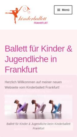 Vorschau der mobilen Webseite kinderballett-frankfurt.de, Kinderballett Frankfurt