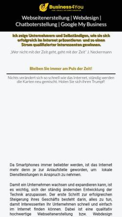 Vorschau der mobilen Webseite top-webdesign-dresden.de, business4you