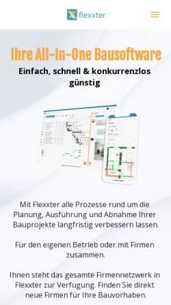 Vorschau der mobilen Webseite www.flexxter.de, Flexxter GmbH