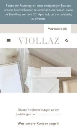 Vorschau der mobilen Webseite viollaz.ch, Viollaz