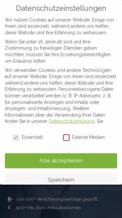 Vorschau der mobilen Webseite www.cfi-fairpay.de, Cumerius Management GmbH