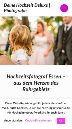 Vorschau der mobilen Webseite deinehochzeitdeluxe.de, Thomas Baldauf - Photografie