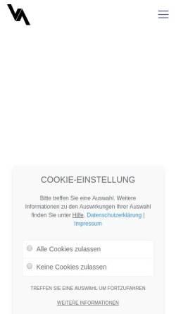Vorschau der mobilen Webseite vaiant.de, VAIANT Gruppe