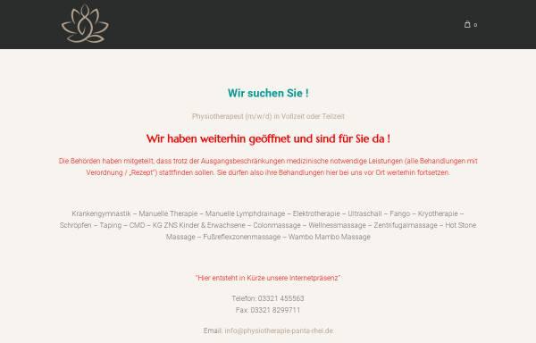 Vorschau von www.physiotherapie-panta-rhei.de, Physiotherapie Panta Rhei