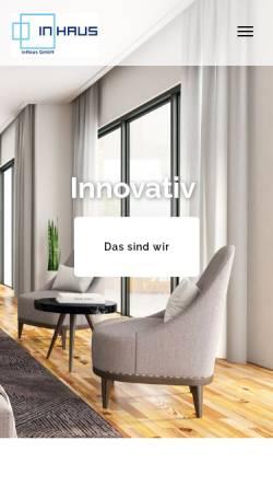 Vorschau der mobilen Webseite inhaus-gmbh.de, Inhaus GmbH