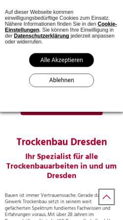 Vorschau der mobilen Webseite www.iksdresden.de, IKS Baugesellschaft mbH