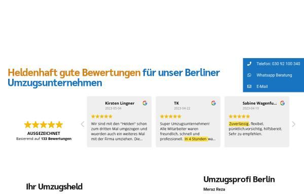Vorschau von www.helden-umzuege.berlin, Helden Umzüge