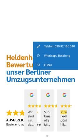 Vorschau der mobilen Webseite www.helden-umzuege.berlin, Helden Umzüge
