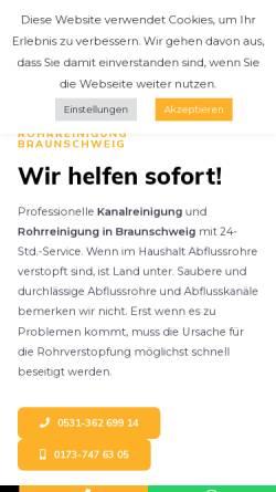 Vorschau der mobilen Webseite kanal24h-braunschweig.de, 24h Rohr & Kanal Hilfe GmbH