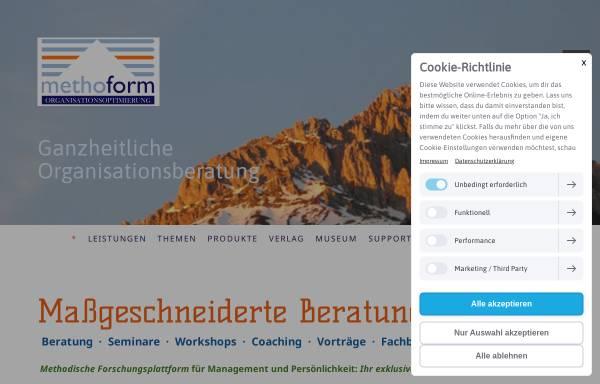 Vorschau von www.methoform.de, methoform Organisationsoptimierung